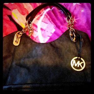 MK Black Signature shoulder bag